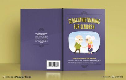 Exercícios cerebrais design de capa de livro alemão