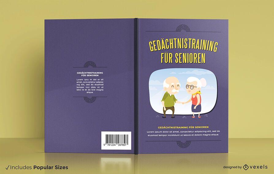 Ejercicios cerebrales diseño de portada de libro alemán