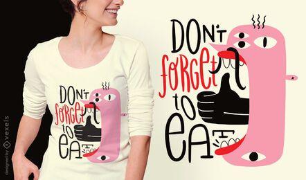 Creature positive message t-shirt design