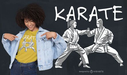 Karate people martial arts t-shirt design