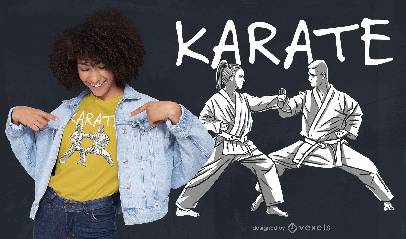 Karate people martial arts t-shirt design