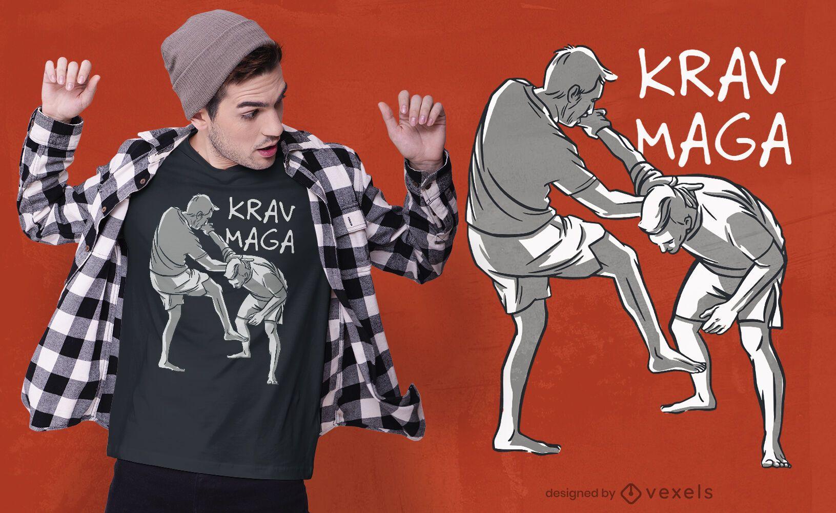 Martial arts krav maga t-shirt design