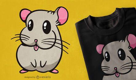 Diseño de camiseta linda animal chinchilla