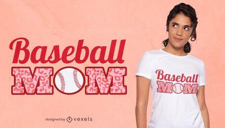Design de camiseta divertida para mamãe de beisebol