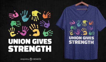 Union da fuerza al diseño de la camiseta