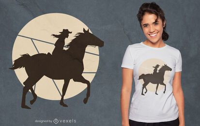 Frau Reiter Silhouette T-Shirt Design