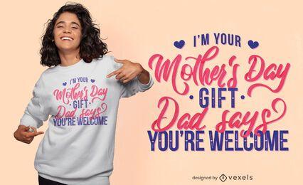 Diseño de camiseta de cita divertida del día de la madre.