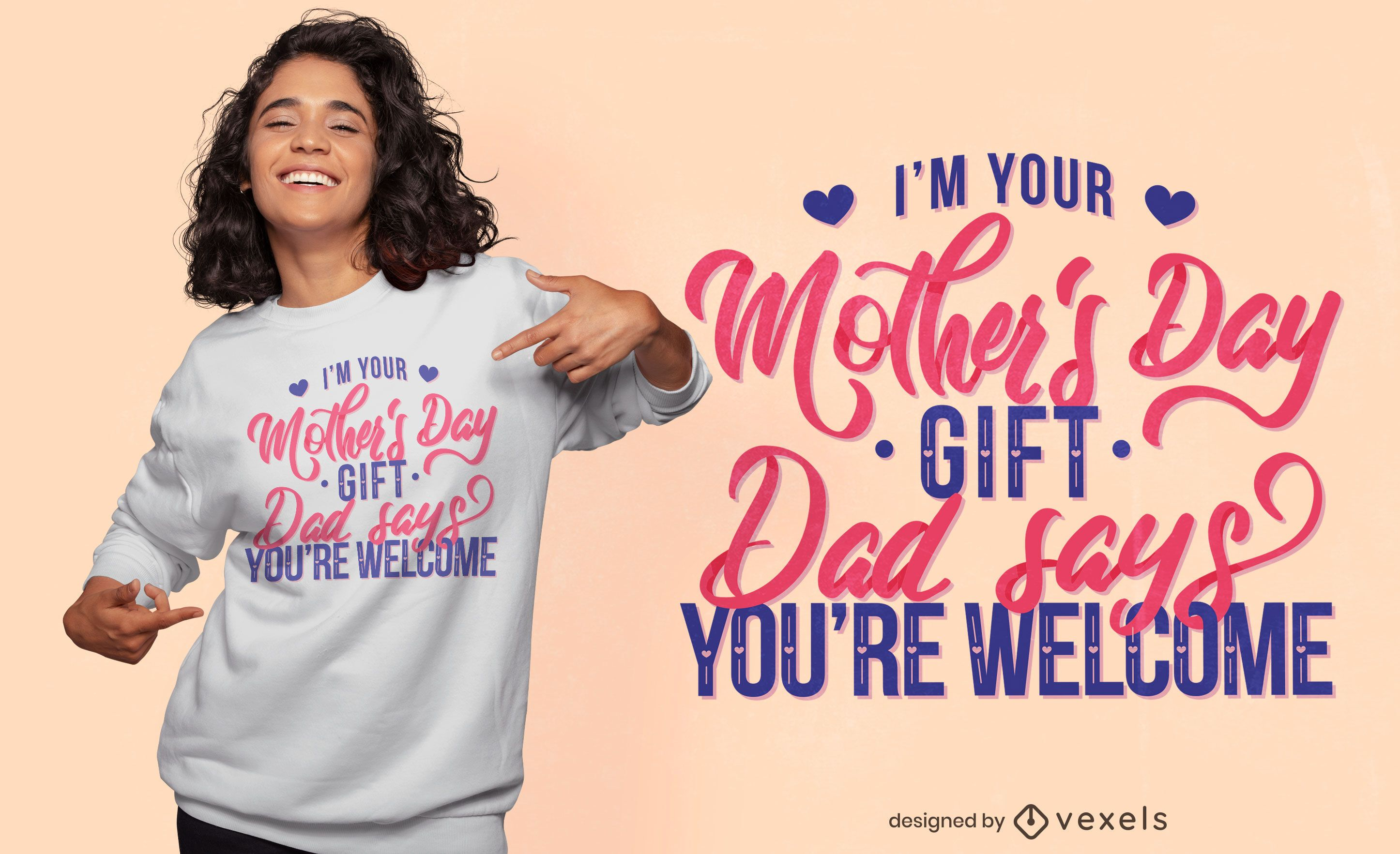 Mother's day funny quote t-shirt design