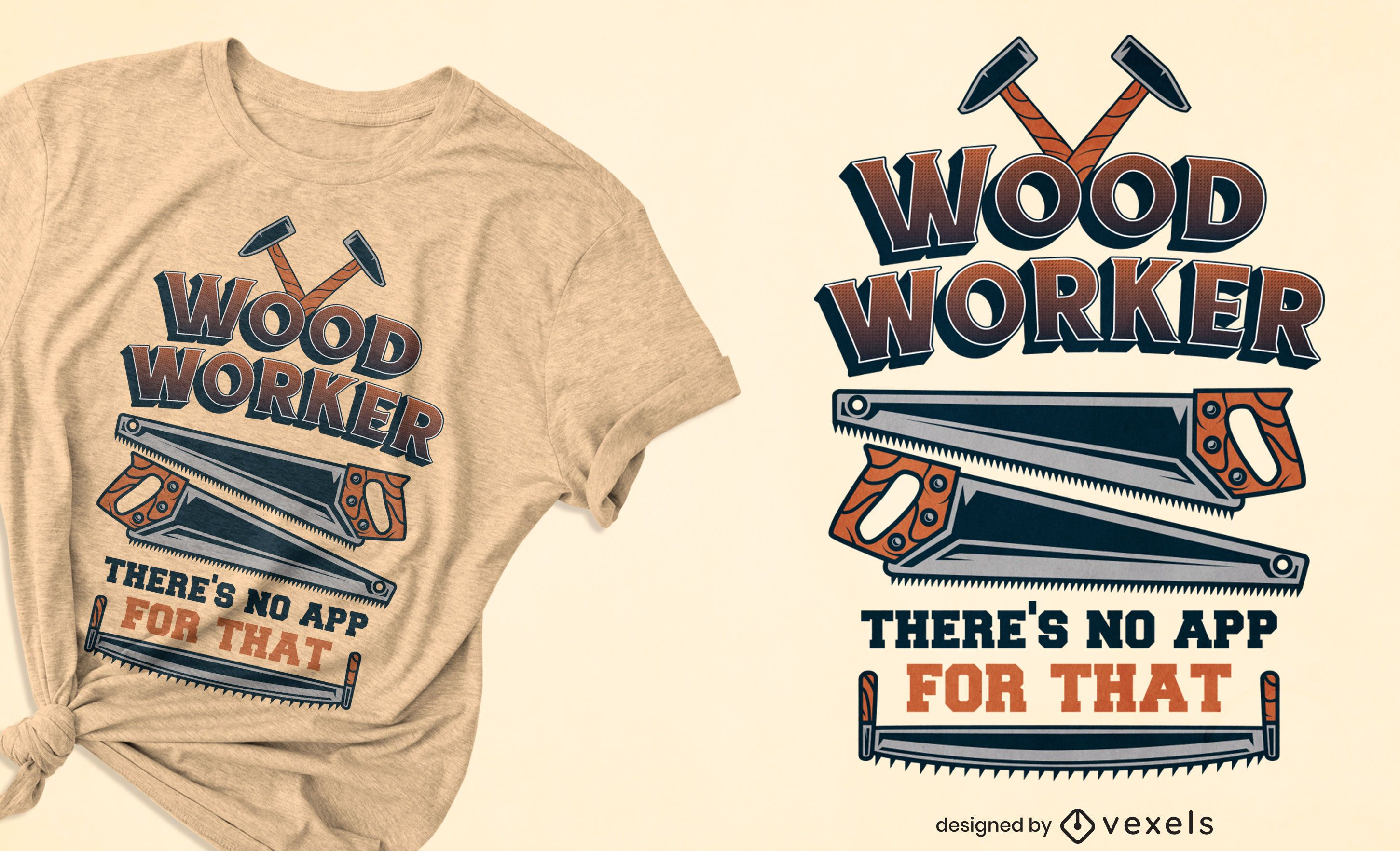 Wood worker quote t-shirt design