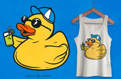 Party rubber duck t-shirt design