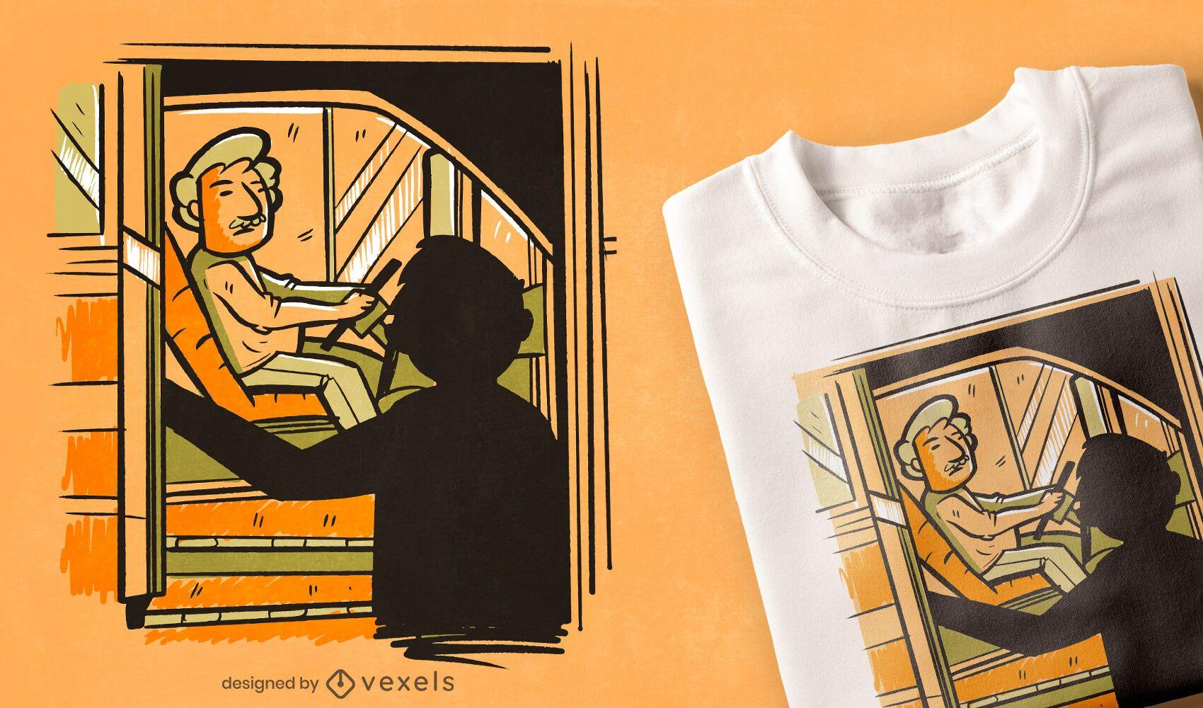 Bus driver t-shirt design