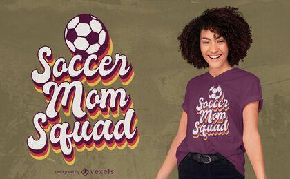 Diseño de camiseta soccer mom squad