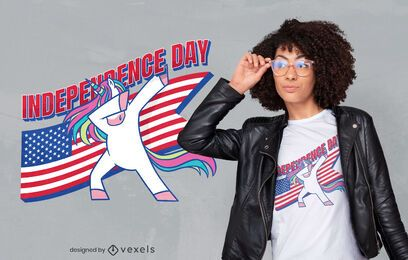 Independence day unicorn t-shirt design