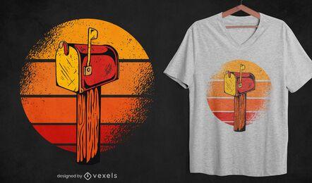 Design vintage de t-shirt de caixa de correio
