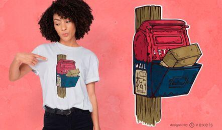 Design antigo de t-shirt de caixa de correio