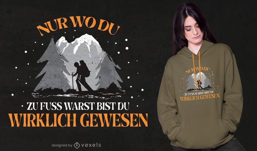 Senderism german quote t-shirt design