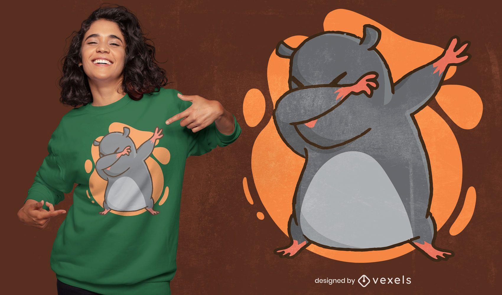 Lindo diseño de camiseta divertida con toques de topo