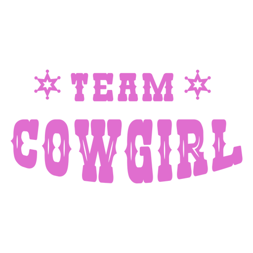 Team cowgirl badge