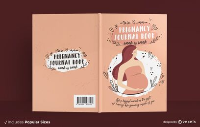 Pregnancy journal book cover design