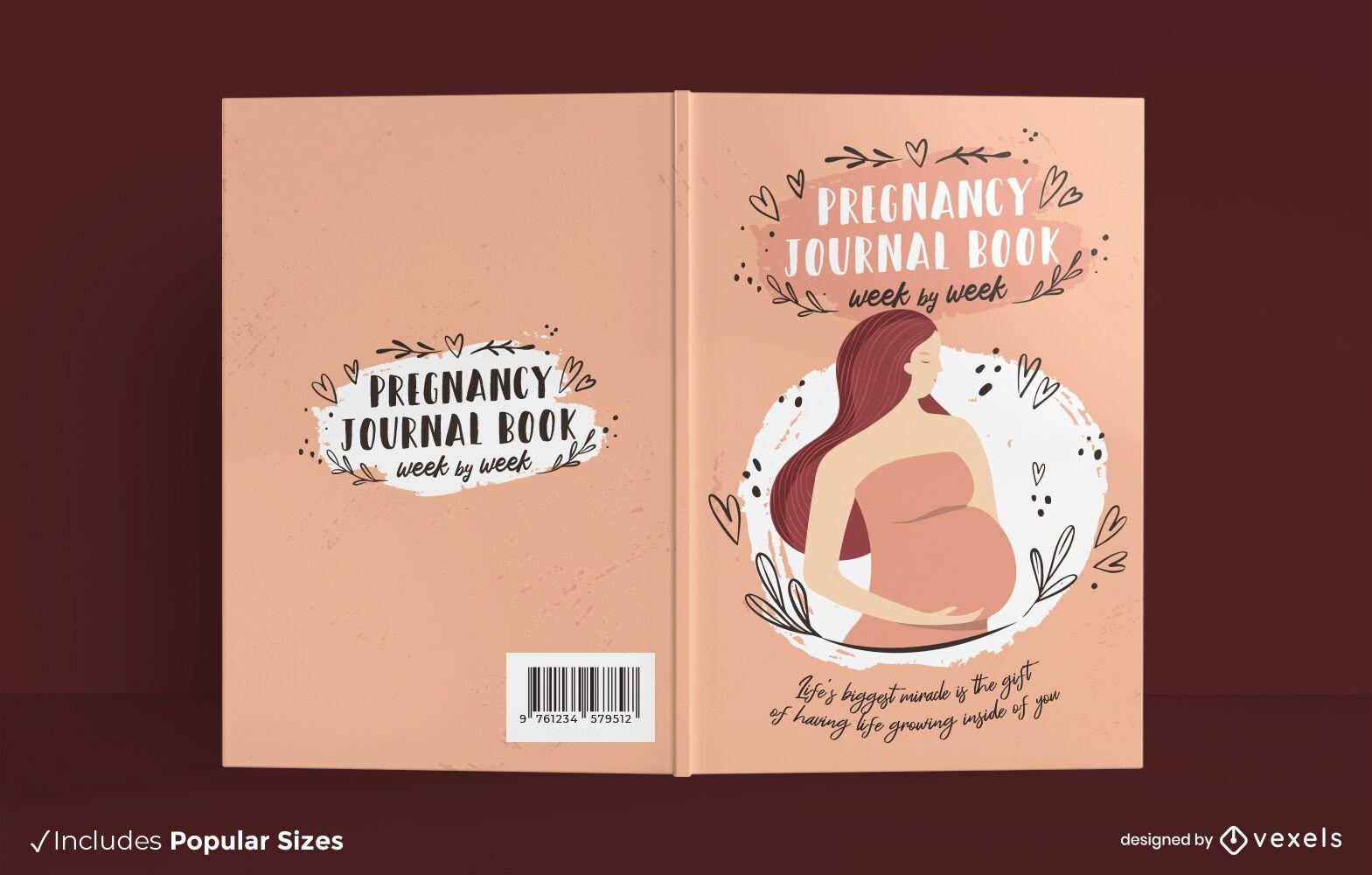 Pregnancy journal book cover design