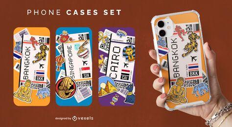Cartão de embarque design de capa de telefone na Ásia
