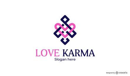 Diseño de plantilla de logotipo de amor karma