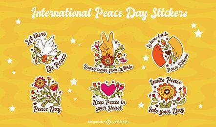 Internationaler Friedenstag Aufklebersatz