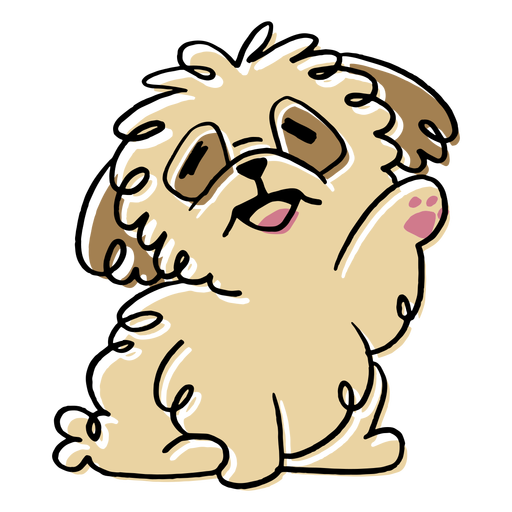 Fluffy puppy dog doodle