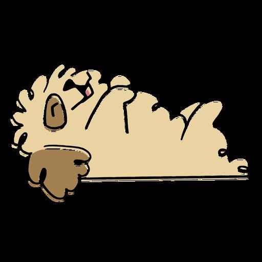 Fluffy dog animal doodle