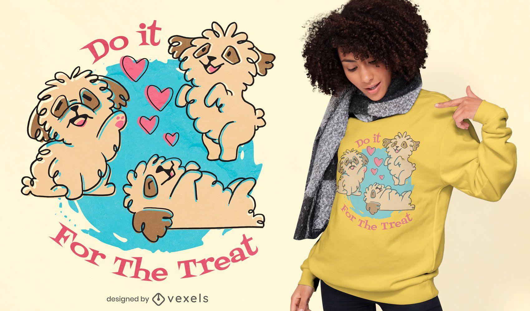 Diseño de camiseta de perros lindos