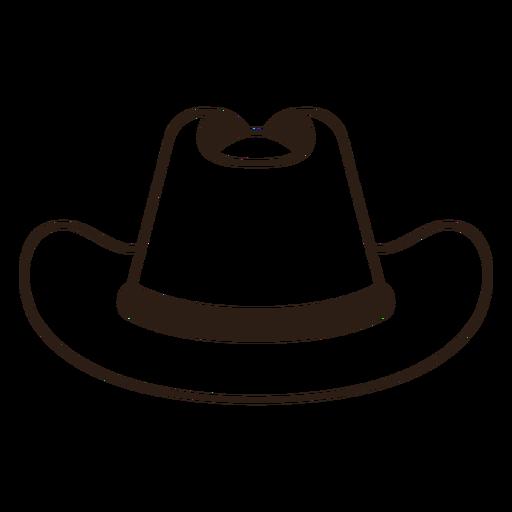 Frontal filled stroke cowboy hat