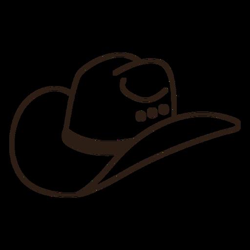 Side filled stroke cowboy hat