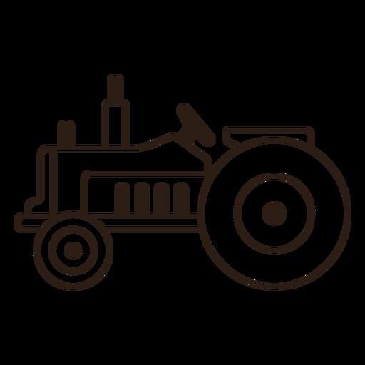 Side filled stroke tractor