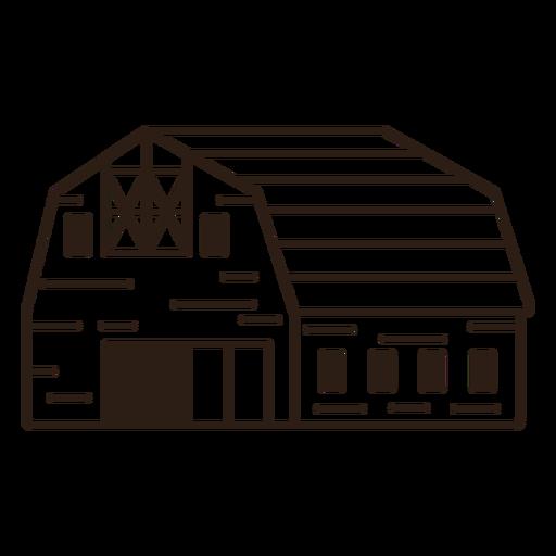 Simple filled stroke barn