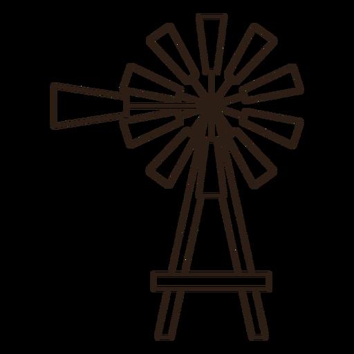 Simple stroke windmill