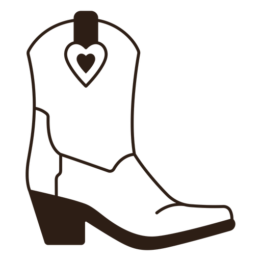 Cowgirl boot filled stroke