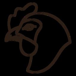 Chicken head side filled stroke