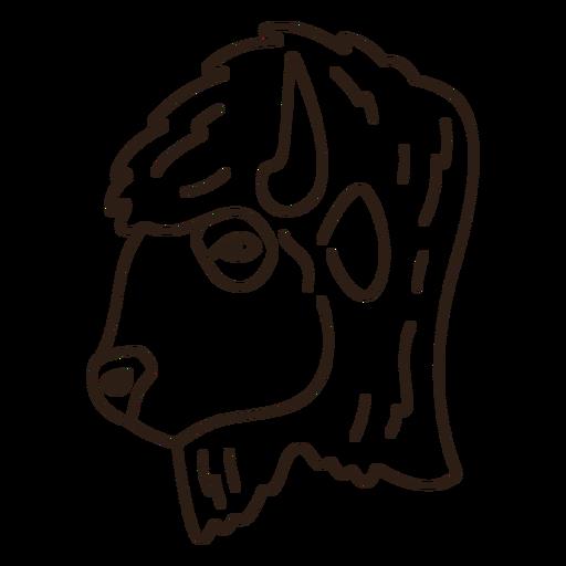 Buffalo head side stroke