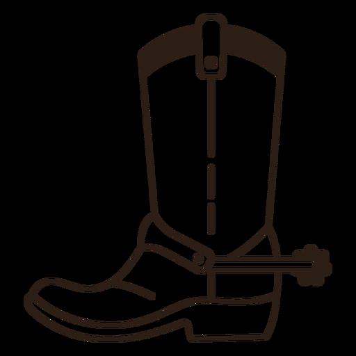 Cowboy boot spurs filled stroke