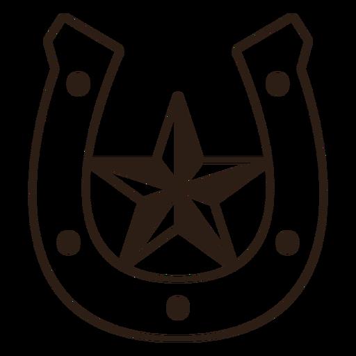 Horseshoe star filled stroke