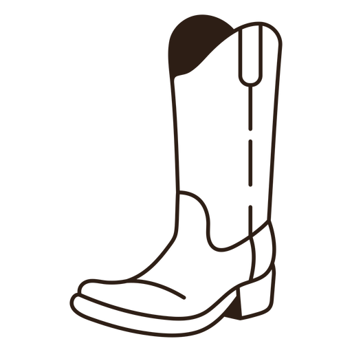 Cowboy boot filled stroke