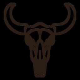 Bull skull filled stroke