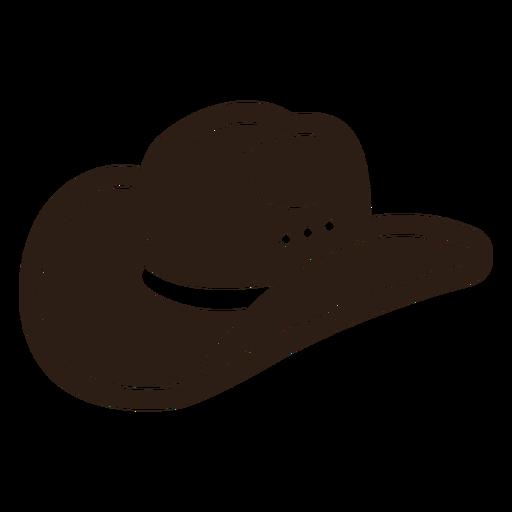 Cowboy hat profile cut out