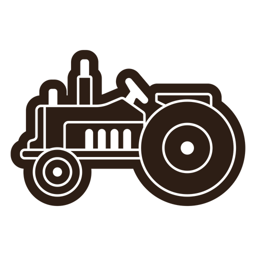 Old farm tractor cut out