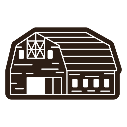 Farm barn cut out