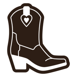 Cowgirl boots heart cut out