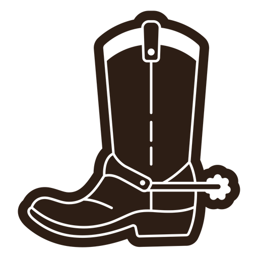 Cowboy boots with spur cut out