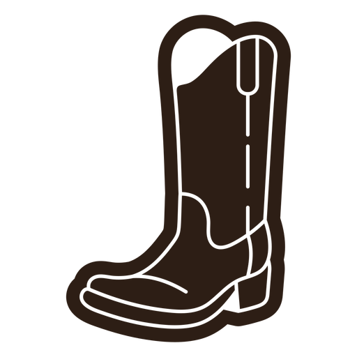 Cowboy style boots cut out