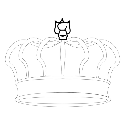 Big royal crown line art