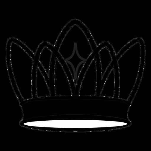 Delicate princess crown cut out